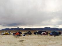 野营的沙漠 免版税图库摄影