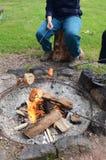 野营的火 免版税图库摄影