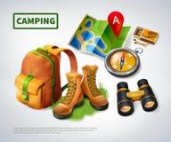 野营的现实构成 库存照片