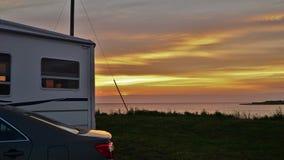野营的目的地梦想例证理想的安排海运夏天旅行家假期 库存照片