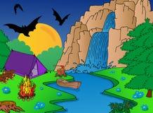 野营的秋天 库存照片