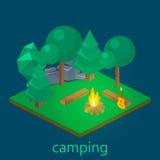 野营的等量风景 库存图片
