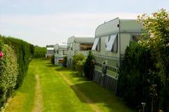 野营的街道拖车 库存照片