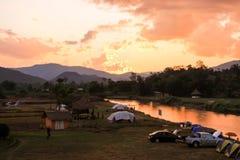 野营的领域 免版税图库摄影