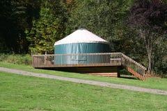 野营的yurt 免版税库存图片