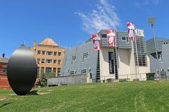 他野营Ballarat的联盟大学街道校园,新和历史大厦,房子的混合艺术学院 免版税库存图片