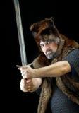 野蛮cimmerian战士 免版税库存照片