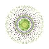 野靛花的圆样式 图库摄影