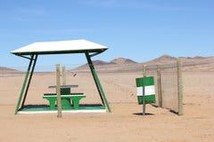 野餐休息区沙漠,纳米比亚 免版税库存图片