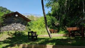 野餐区在安道尔 免版税库存图片