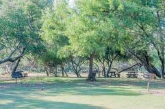 野餐区在山斑马国家公园 库存照片