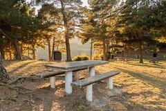 野餐区在比利牛斯 免版税库存图片