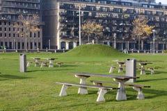 野餐区在鹿特丹 免版税库存图片
