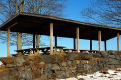 野餐区在Brandywine小河国家公园 免版税库存照片