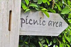 野餐区标志 免版税库存照片