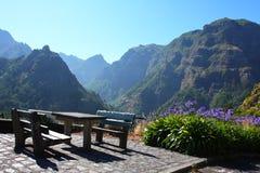 野餐安排在马德拉岛 免版税库存图片