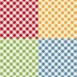 野餐桌布料无缝的样式集合 野餐格子花呢披肩纹理 向量例证