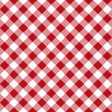 野餐桌布料无缝的样式 红色野餐格子花呢披肩纹理 皇族释放例证