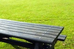 野餐桌细节 免版税库存图片