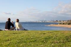 野餐海边 免版税库存图片