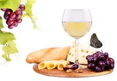 野餐用酒和食物 库存图片