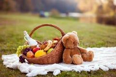 野餐的篮子 库存图片