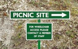 野餐站点 库存图片