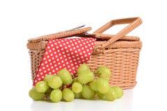 野餐篮子 免版税图库摄影