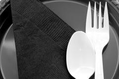 野餐餐位餐具 库存图片