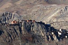 野马地区,安纳布尔纳峰保护区域,尼泊尔 免版税库存图片
