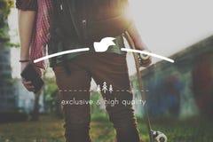 质量品牌产品标准商标价值概念 免版税库存图片