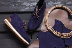 质量时髦的被温暖的鞋子 库存照片