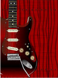 质量木头吉他 免版税库存图片