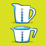 量杯-蓝色系列 免版税图库摄影