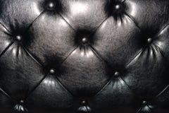 质量黑皮革纹理背景 床和沙发 免版税库存图片