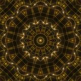 金万花筒光,黑暗的抽象背景 免版税图库摄影