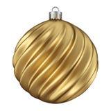 金与扭转的样式的圣诞装饰球 向量例证
