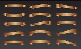 金丝带横幅组装 免版税图库摄影