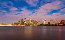 金丝雀码头港区东伦敦英国欧洲 免版税库存照片