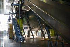 金丝雀码头,伦敦现代建筑学  多重曝光图象 库存照片