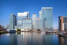 金丝雀码头事务和银行业务唱腔,伦敦 库存照片