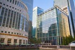 金丝雀码头事务和银行业务唱腔,伦敦 库存图片