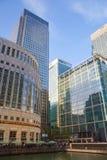 金丝雀码头事务和银行业务唱腔,伦敦 免版税库存照片