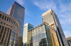 金丝雀码头事务和银行业务唱腔,伦敦 免版税图库摄影