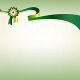 绿金丝绸优质丝带 库存图片