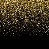 金五彩纸屑雨欢乐假日背景 跌倒传染媒介金黄纸箔的衣服饰物之小金属片隔绝在透明 库存例证