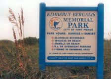 金伯利Bergalis纪念公园,皮尔斯堡佛罗里达 图库摄影