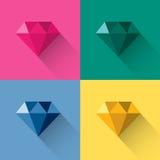金刚石五颜六色的多角形商标传染媒介 库存图片