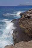 金刚石分散洞头和峭壁II 库存照片