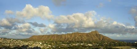 金刚石夏威夷顶头全景 免版税库存图片